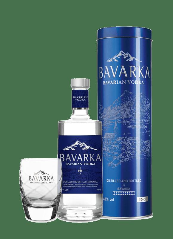 Bavarka Vodka 43% im Bavarka Set