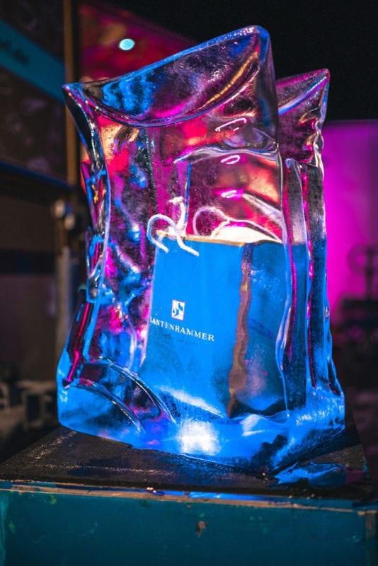 Lantenhammer Winterliches Hoffest Eiskunstwerk