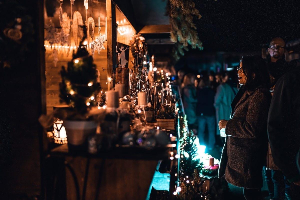 Winterliches Hoffest Lantenhammer Marktstände